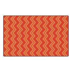 Chevron Fun Rug - Pattern - Red