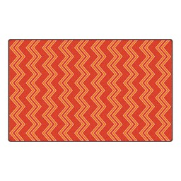 Chevron Fun Rug - Pattern - Red