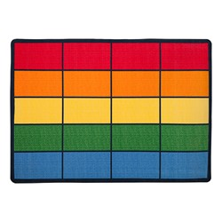 "Colorful Squares Seating Rug (6' W x 8' 4"" L)"