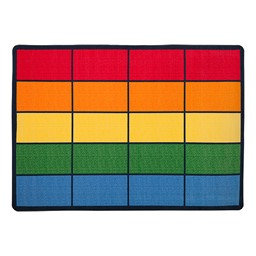"""Colorful Squares Seating Rug (6' W x 8' 4"""" L)"""