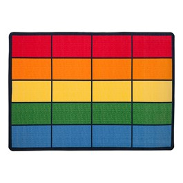 "Colorful Squares Seating Rug (6\' W x 8\' 4"" L)"