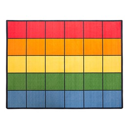 "Colorful Squares Seating Rug (10\' 9"" W x 13\' 2\"" L)"
