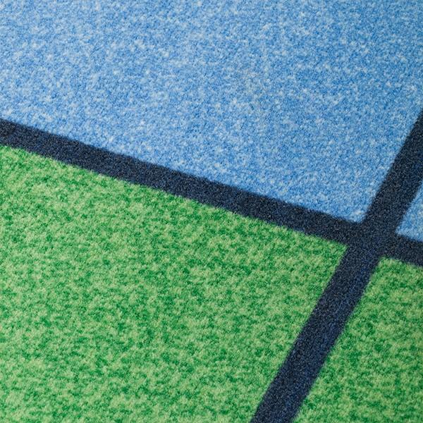 Colorful Squares Seating Rug - Detail
