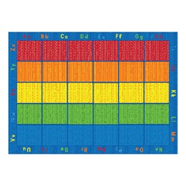 """Five-Color Alphabet Seating Rug (6\' W x 8\' 4\"""" L)"""
