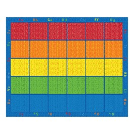 Five-Color Alphabet Seating Rug