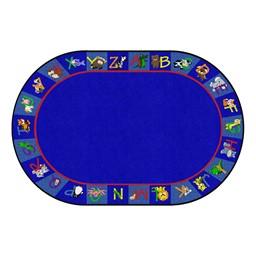 Alphabet Animals Rug - Oval (4' W x 6' L)
