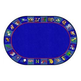 Alphabet Animals Rug - Oval (4\' W x 6\' L)