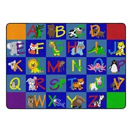 "Alphabet Animals Rug - Rectangle (6\' W x 8\' 4 \"" L)"
