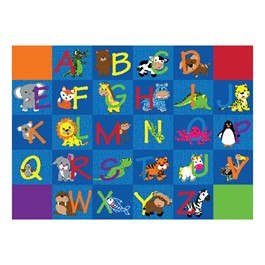 "Alphabet Animals Rug - Rectangle (6\' W x 8\' 4 "" L)"