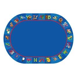 """Alphabet Animals Rug - Oval (6\' W x 8\' 4\"""" L)"""
