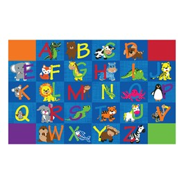 Alphabet Animals Rug - Rectangle