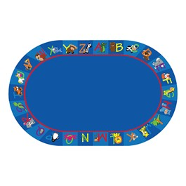 "Alphabet Animals Rug - Oval (7\' 6"" W x 12\' L)"