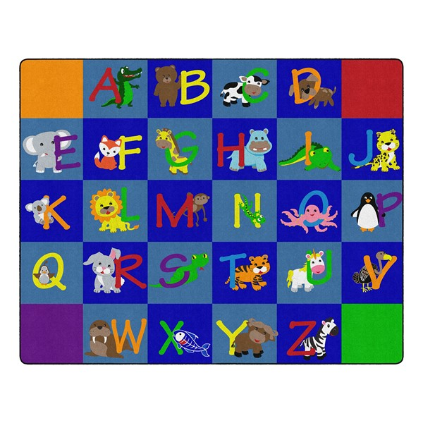 "Alphabet Animals Rug - Rectangle (10' 9"" W x 13' 2"" L)"
