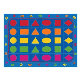 """Learning Our Shapes Rug (6\' W x 8\' 4\"""" L)"""