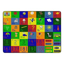 "Big Blocks Playtime Rug (6' W x 8' 4"" L)"