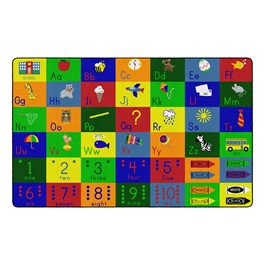 "Big Blocks Playtime Rug (7\' 6\"" W x 12\' L)"