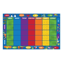 """Days of the Month Rug (7\' 6\"""" W x 12\' L)"""
