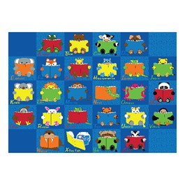 "Animal Reading Time Rug (6\' W x 8\' 4"" L)"