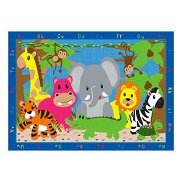 "Jungle Jumble Animal Rug (6\' W x 8\' 4\"" L)"