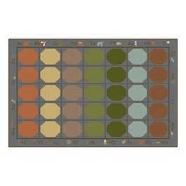 Alphabet Seating Natural Colors Rug
