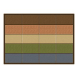 """Natural Colors Seating Row Rug (6\' W x 8\' 4\"""" L)"""