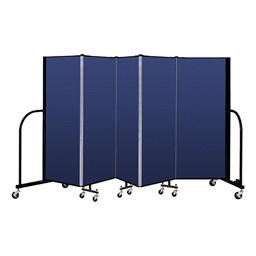 """5' H Freestanding Portable Partition - 5 Panels (9' 5"""" L)"""