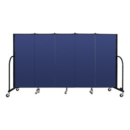 6' H Freestanding Portable Partition - Blue