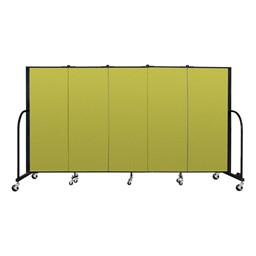 6' H Freestanding Portable Partition - Green