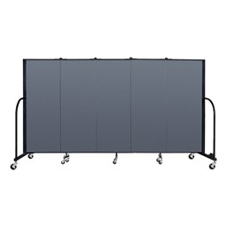 6' H Freestanding Portable Partition - Indigo