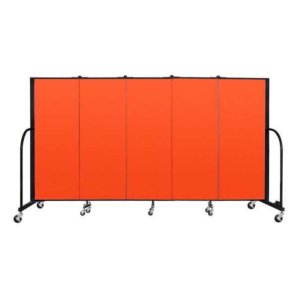 6' H Freestanding Portable Partition - Orange