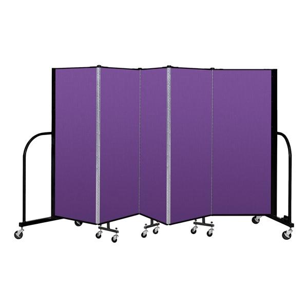 """4' H Freestanding Portable Partition - 5 Panels (9' 5"""" L)"""