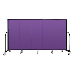 6' H Freestanding Portable Partition - Purple