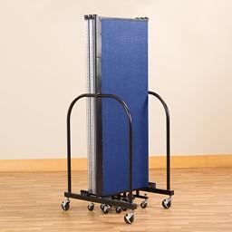 "5' H Freestanding Portable Partition - 5 Panels (9' 5"" L) - Folded"