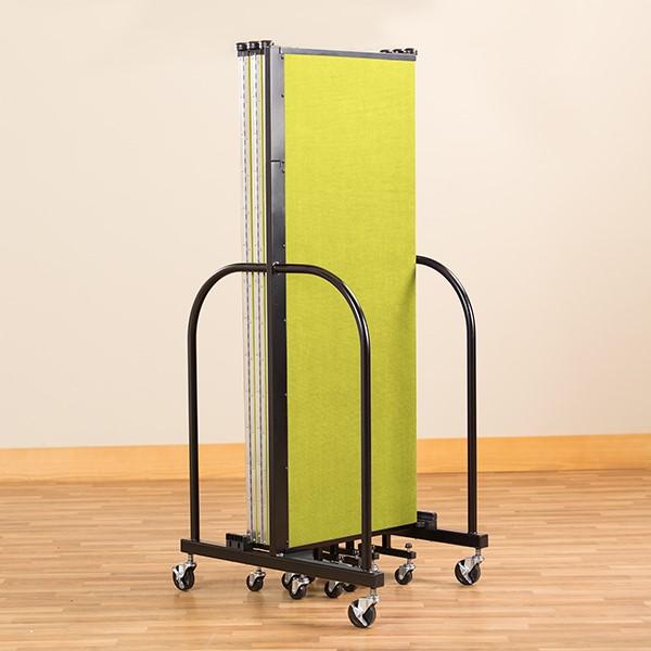 "4' H Freestanding Portable Partition - 7 Panels (13' 1"" L) - Folded"