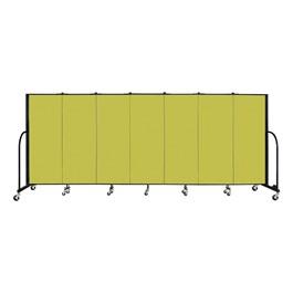 "4\' H Freestanding Portable Partition - 7 Panels (13\' 1\"" L) - Green"