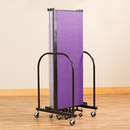 Multi-Color Freestanding Portable Partition - Folded