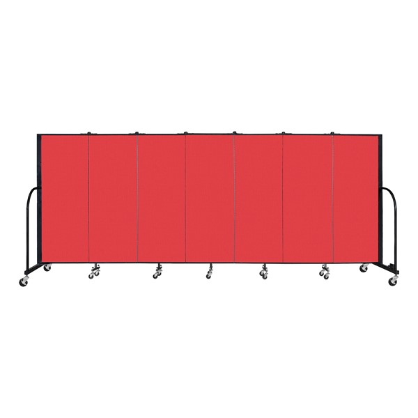 6' H Freestanding Portable Partition - Red