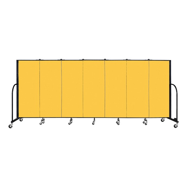 6' H Freestanding Portable Partition - Yellow