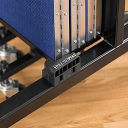 """5' H Freestanding Portable Partition - 5 Panels (9' 5"""" L) - Handle"""