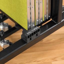 """4' H Freestanding Portable Partition - 7 Panels (13' 1"""" L) - Handle"""