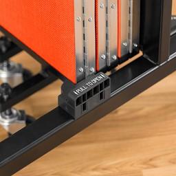 4' H Freestanding Portable Partition - Handle