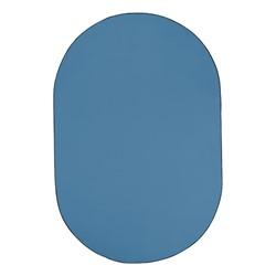 Heavy-Duty Solid Color Classroom Rug - Oval (12' W x 18' L) - Bluebird