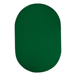Heavy-Duty Solid Color Classroom Rug - Oval (12' W x 18' L) - Clover