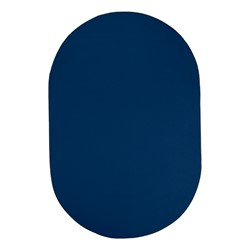 Heavy-Duty Solid Color Classroom Rug - Oval (12' W x 18' L) - Royal Blue