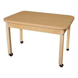 "Rectangle High Pressure Laminate Table (48"" W x 24"" D)"