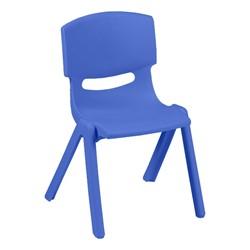 Colorful Plastic Preschool Stack Chair - Periwinkle