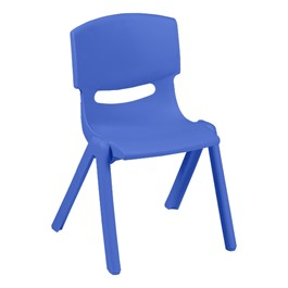 Colorful Plastic Preschool Stack Chair - Periwinkle
