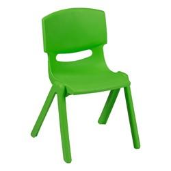 Colorful Plastic Preschool Stack Chair - Green