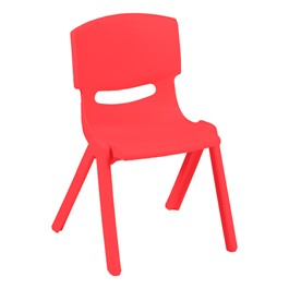 Colorful Plastic Preschool Stack Chair - Coral