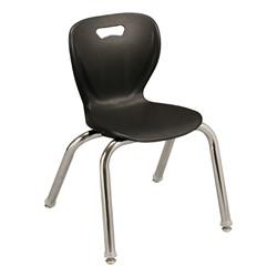 "Shapes Series Preschool Chair (14"" H) - Black"